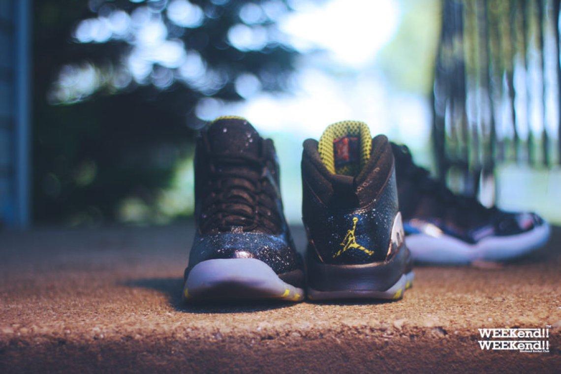 "Air Jordan 10 ""Cosmos"" Customs by Rocket Boy Nift"