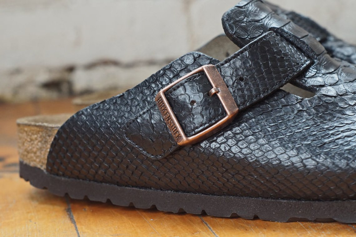 Black Python Birkenstock Boston 3