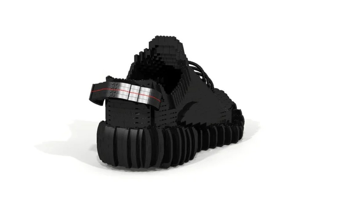 "adidas Yeezy Boost 350 ""Pirate Black"" LEGO Sculpture"