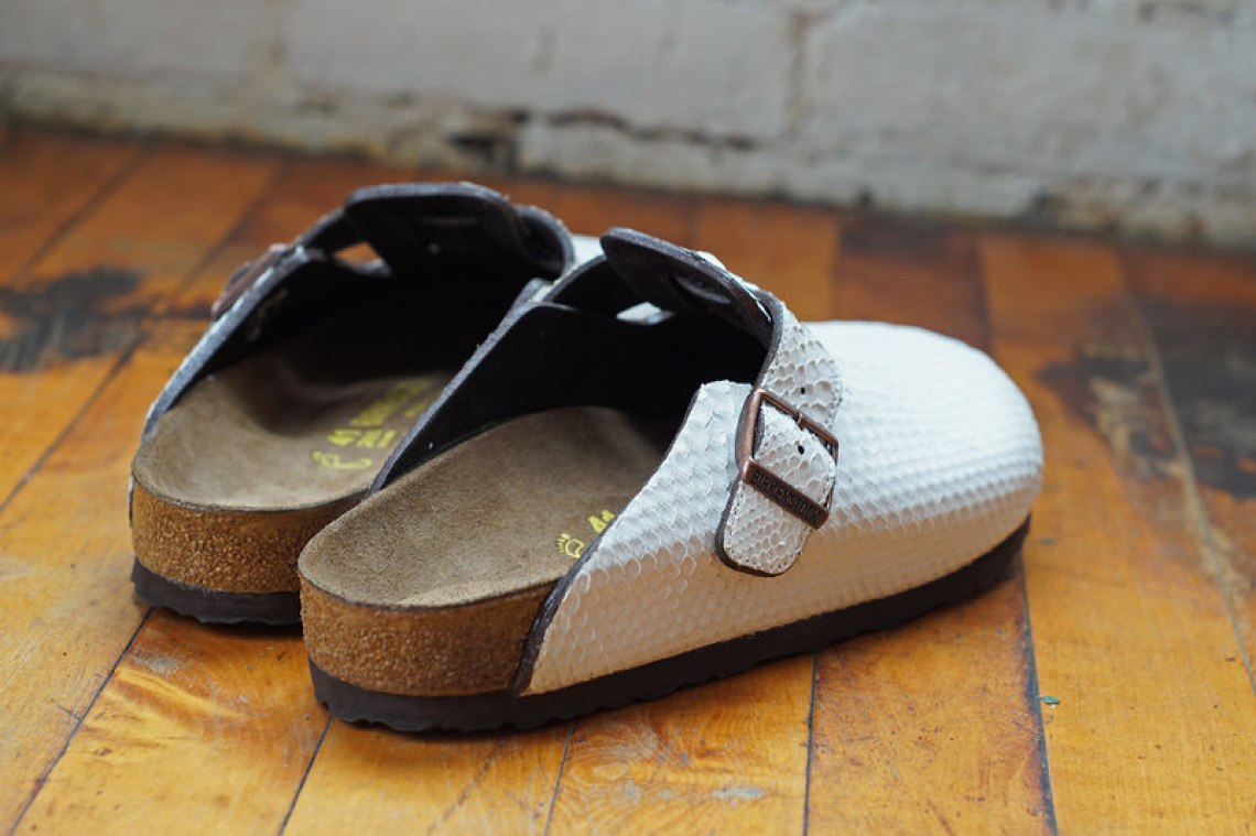 White Python Birkenstock Boston 3