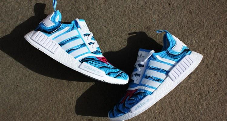 """adidas NMD """"Aqua Dripped"""" Custom by Duane Gavins Jr."""