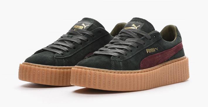 Rihanna x PUMA Suede Creeper Green Bordeaux    Detailed Look  6c3dea980602