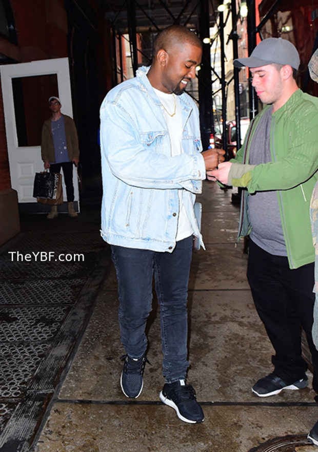Kanye West in the adidas Ultra Boost Black/White