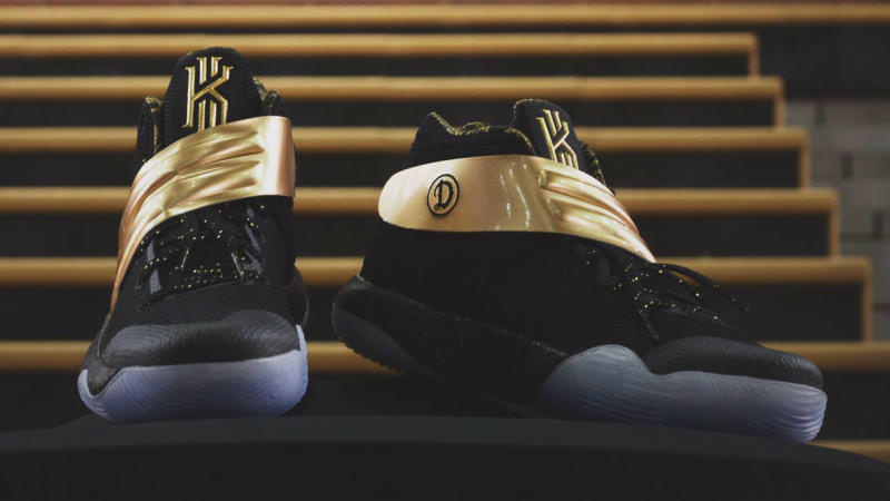 f92357195f3 This Nike Kyrie 2 iD Was Gifted to the Drew League Champions   Nice ...