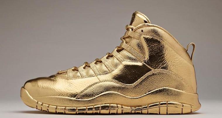 Air Jordan 10 Gold