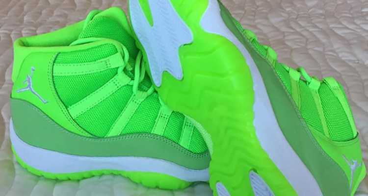 sale retailer 3b974 31f9e Air Jordan 11 Neon Green PE | Nice Kicks