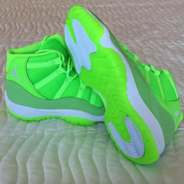 Air Jordan 11 Neon Green PE