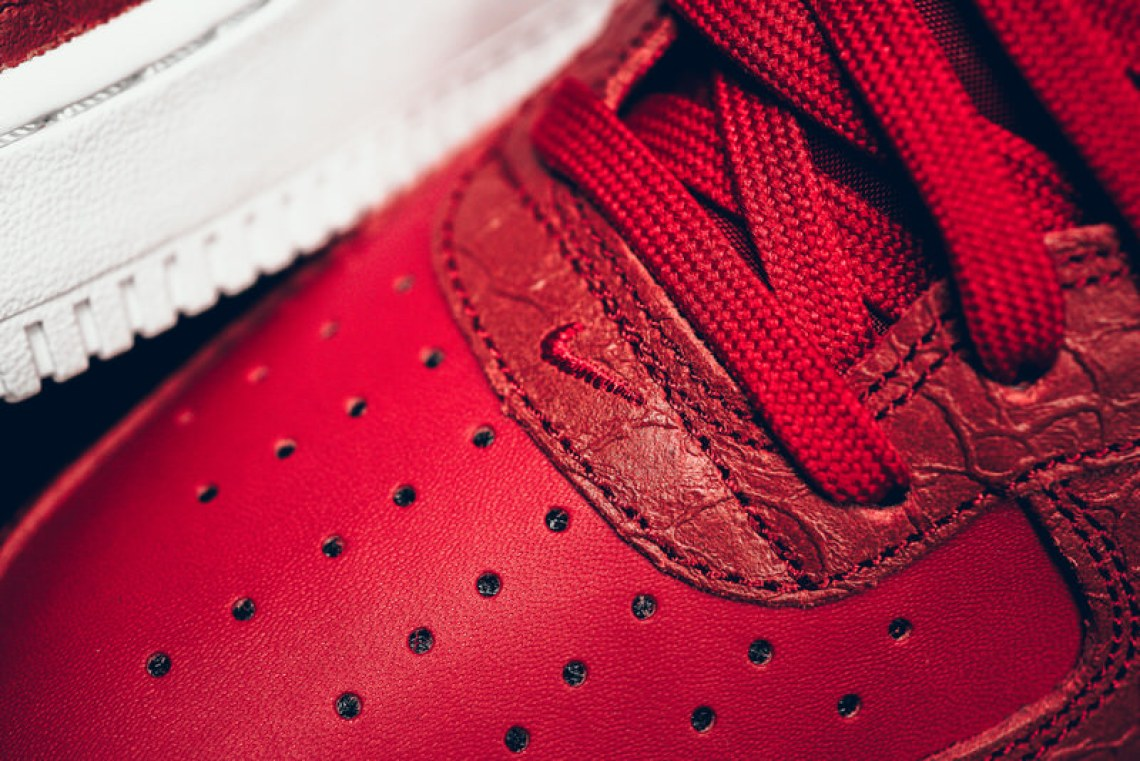 hot sales a5f2c bca8f ... Nike Air Force 1 Mid Red Python