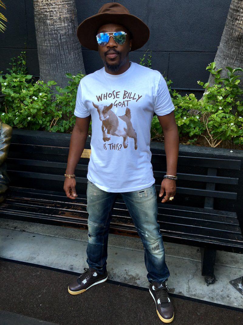 "Anthony Hamilton in his ""Chocolate"" Air Jordan 4 PE"