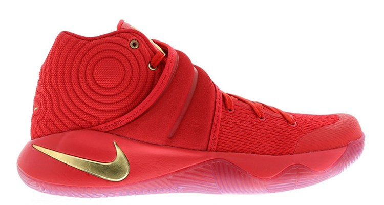 Nike Kyrie 2 Gold Swoosh