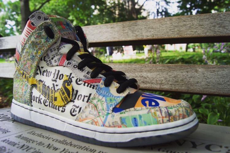 """Nike Dunk High """"What the NYC"""" Custom"""