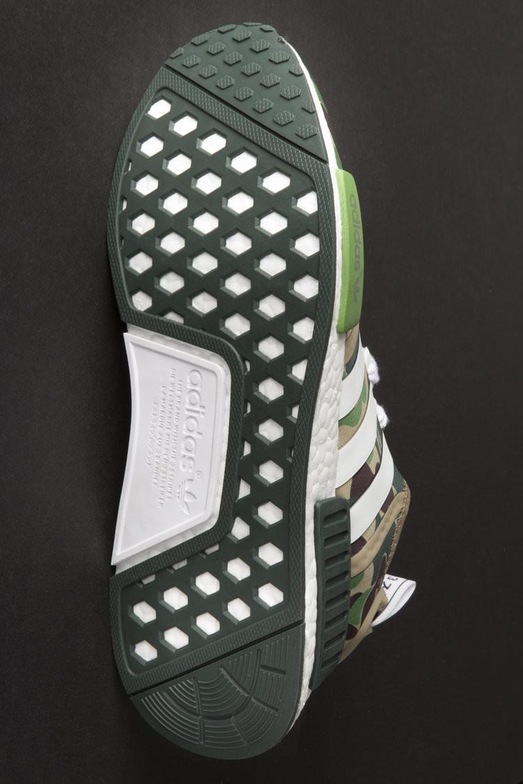 """A Bathing Ape x adidas NMD R1 """"Green Camo"""""""