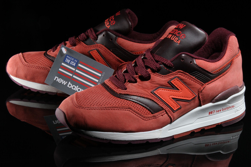 new balance 997 red clay