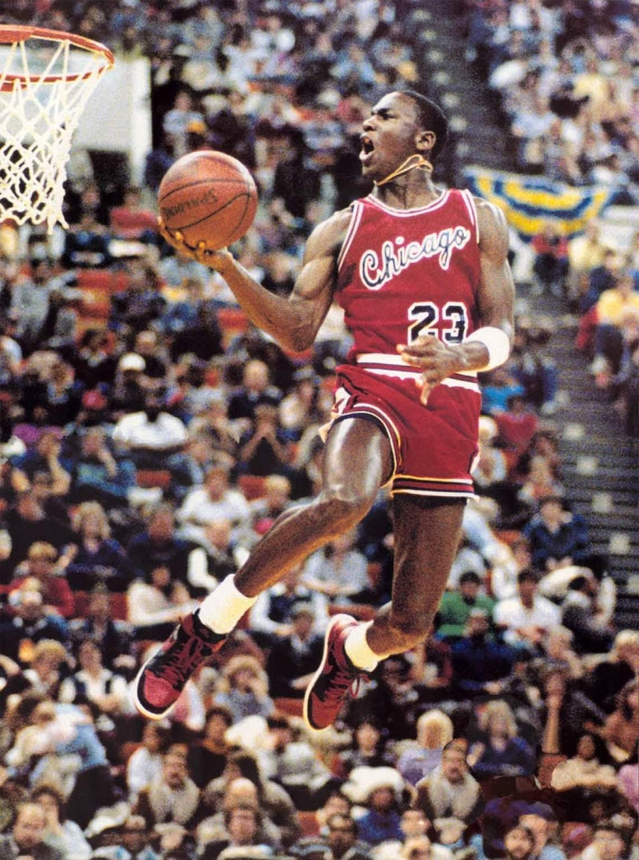"32cb0d567c898e Michael Jordan in the Air Jordan 1 ""Banned"". Year  1984"