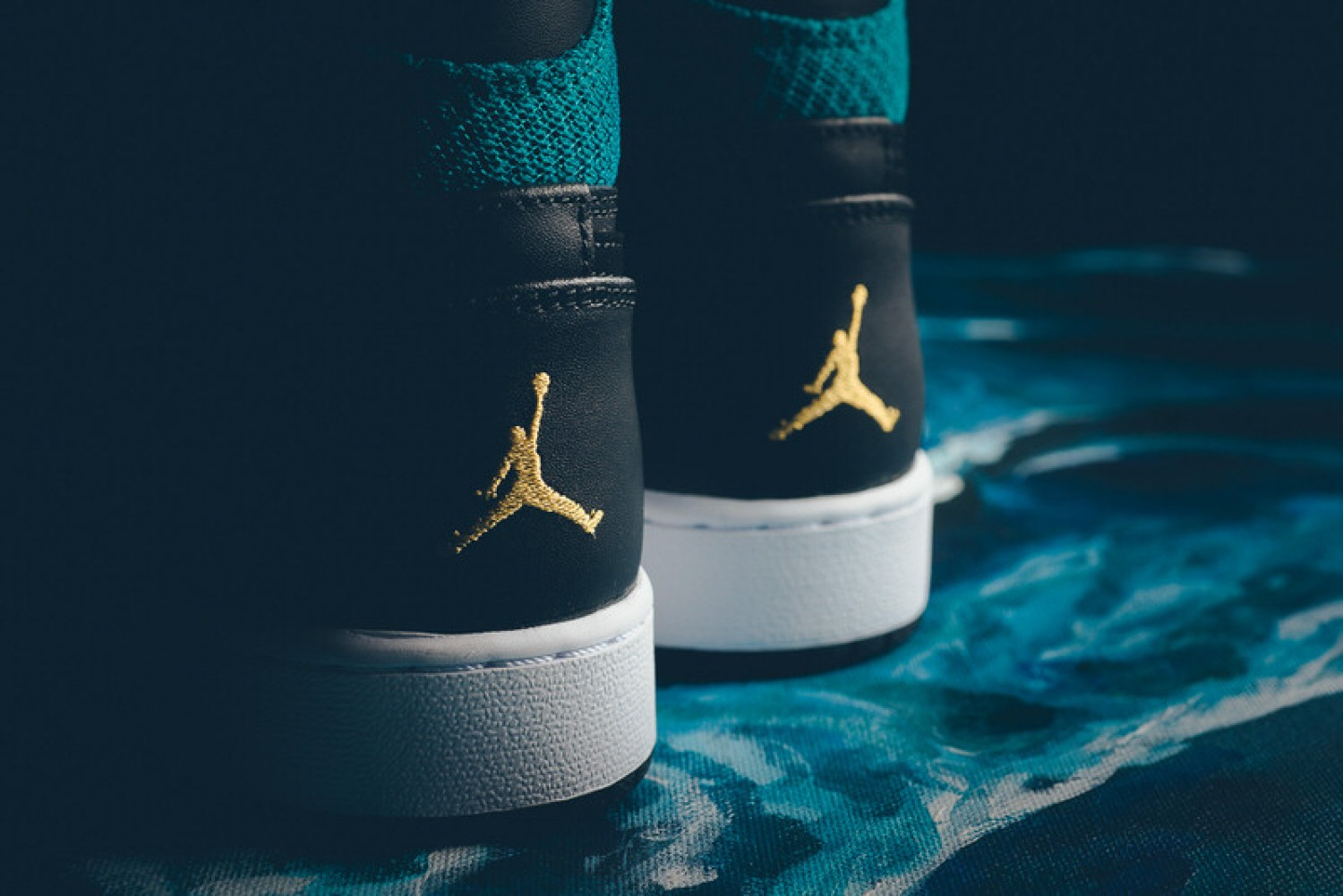 Air Jordan 1 GG Black/Rio Teal