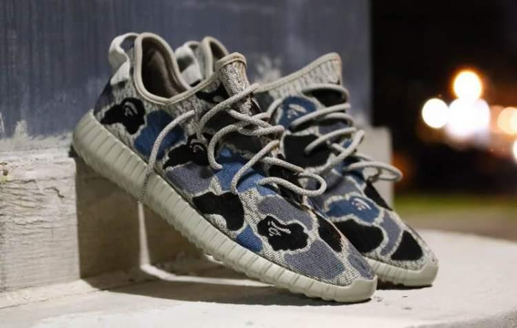 """adidas Yeezy Boost 350 """"BAPE Camo"""" Custom by Malcolm Garret"""