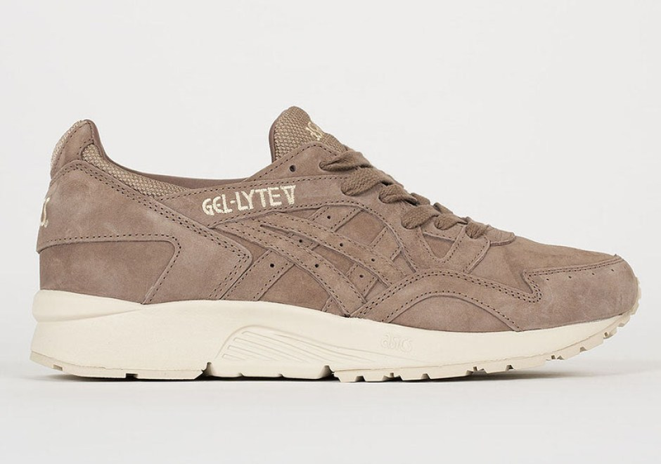 d7b520eaf475 ASICS Gel Lyte V Explores Monotone Suede and Off-White Soles for ...