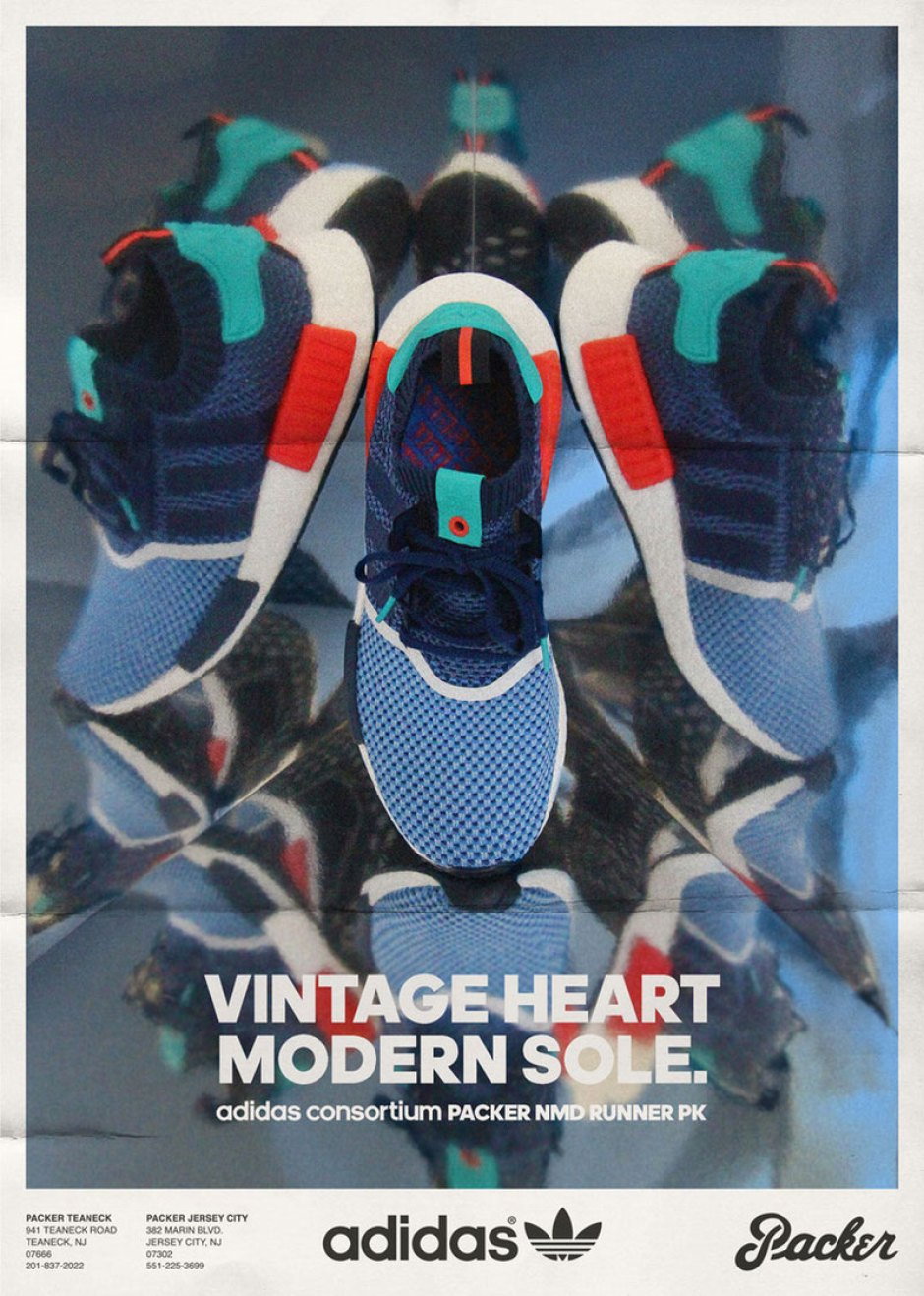 quite nice 33705 25e6f Packer Shoes Reimagines Vintage Ads for Forthcoming adidas ...