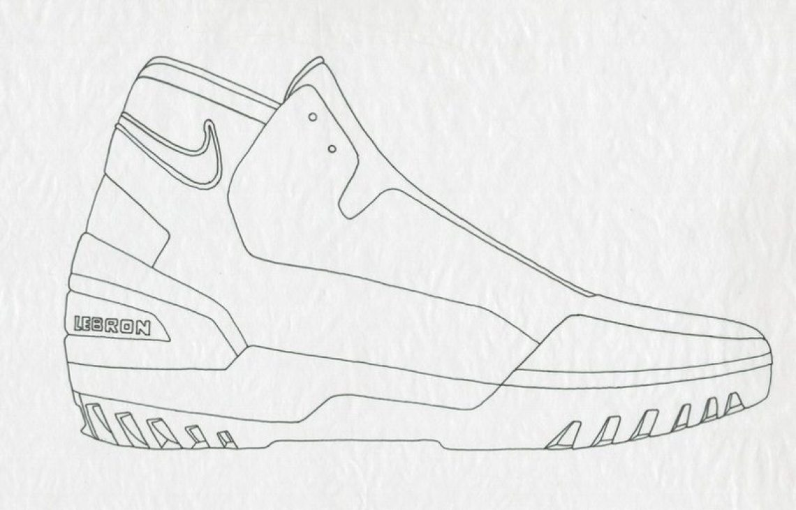 Check Out The Air Zoom Generations Sketch Progression Below Long Awaited White Black Red Retro Edition Releases Tomorrow August 26th For 175 At