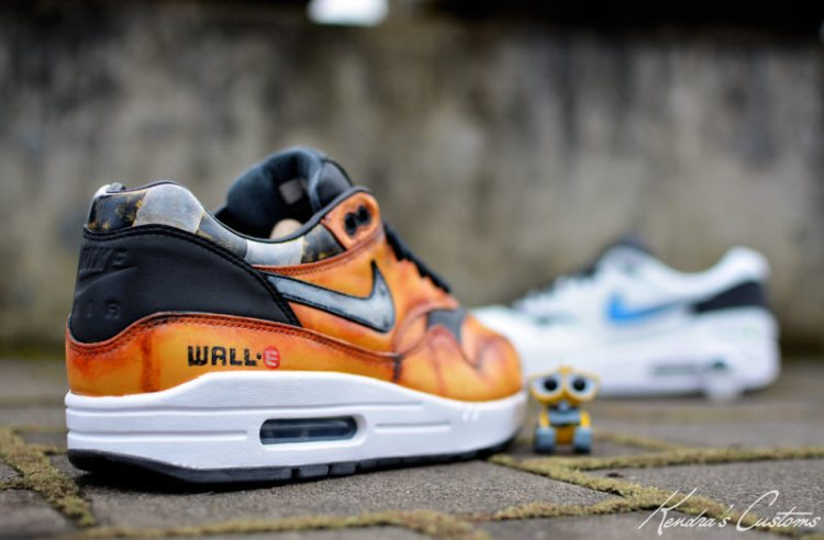 "Nike Air Max 1 ""Wall-E & Eve"" Custom by Kendra's Customs"