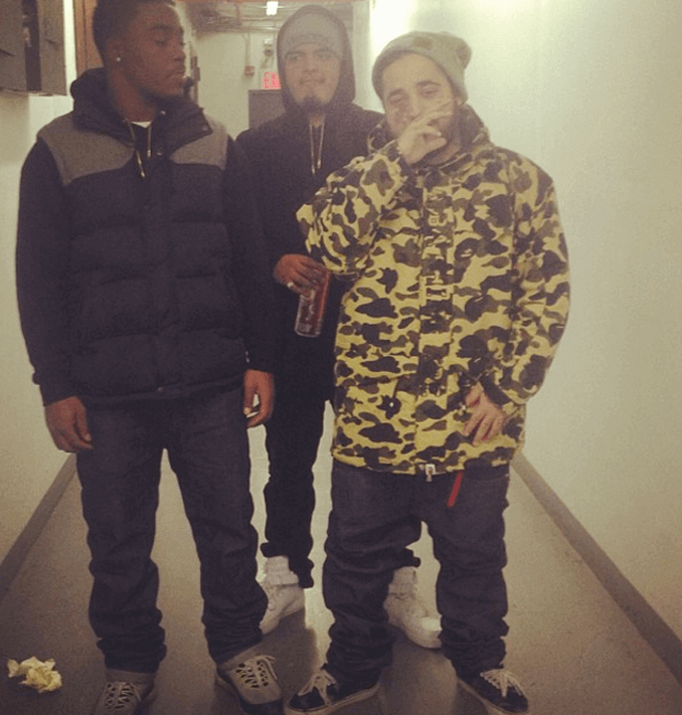 "A$AP Yams in the same BAPE jacket as Biggie and the Vans Era OG ""Palm Pack"""