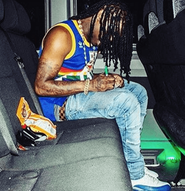 """Chief Keef in the Air Jordan 12 """"French Blue"""""""