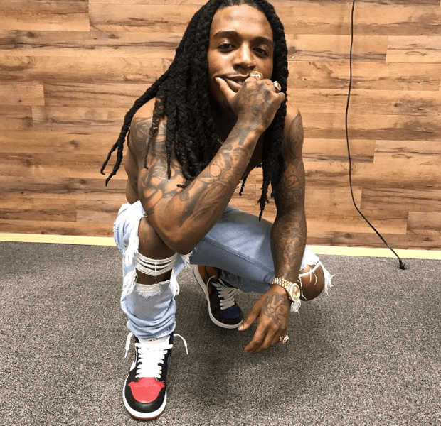 db365a8cae7 ... Jacquees in the Air Jordan 1