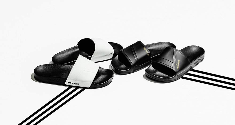 Raf Simons x adidas Adilette Collection