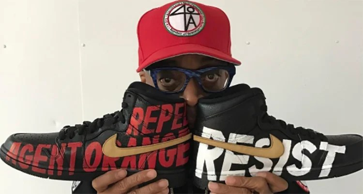 Spike Lee Shines a Light on A Tribe Called Quest s Grammy Performance With  Custom Air Jordan 1 s 211cbc286c