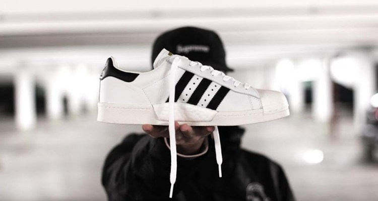 adidas Originals: White & Pink Superstar 80's PK Sneakers SSENSE