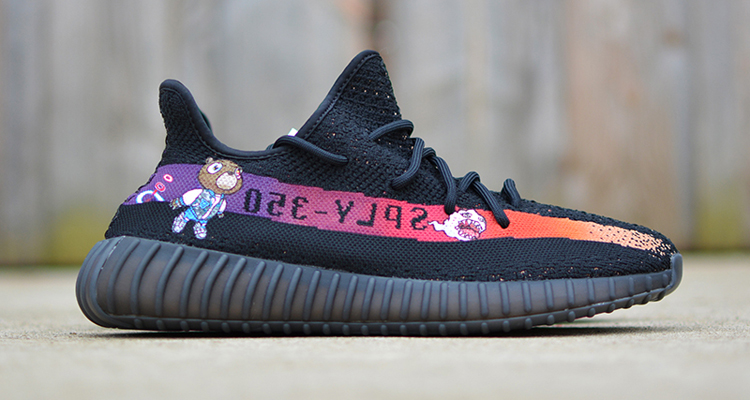 adidas Yeezy Boost 350 V2 Graduation Custom by Kendra's Customs