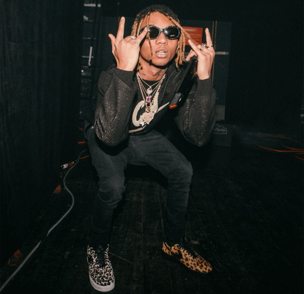 Swae Lee in mismatched Nike Air Force 1s