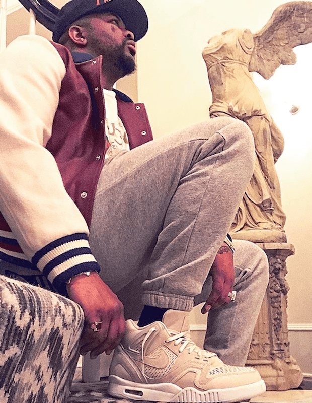 """The-Dream in the Nike Air Tech Challenge II Laser """"Beige"""""""