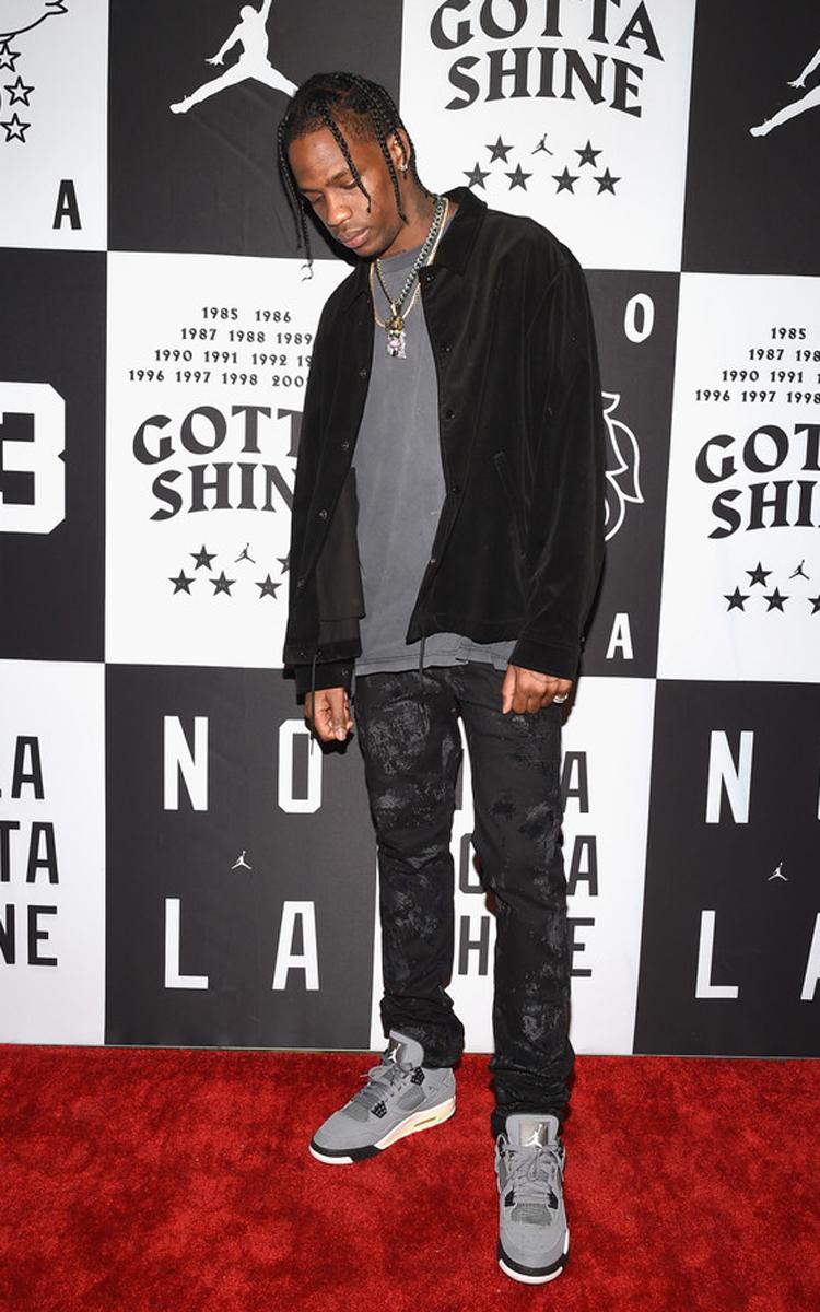 """Travis Scott in the Air Jordan 4 """"Cool Grey"""""""