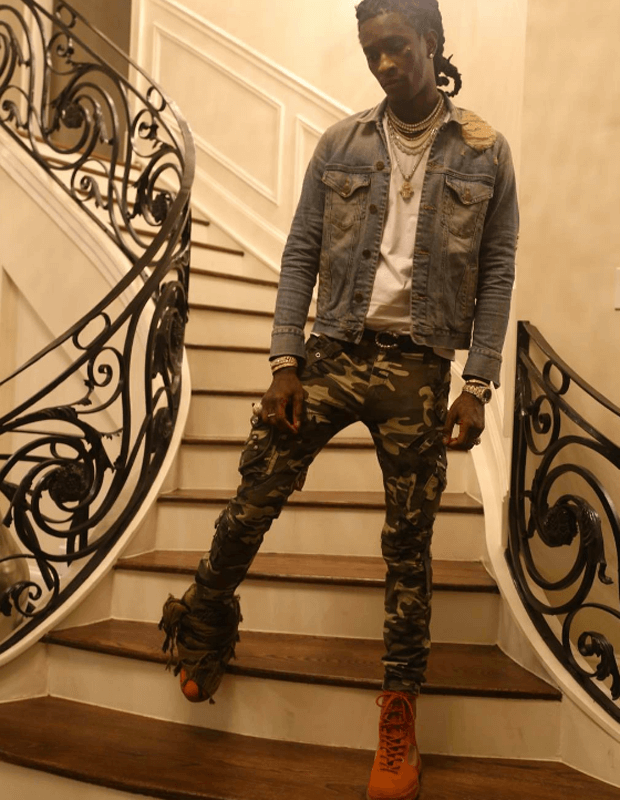 Young Thug in Yeezy Boots
