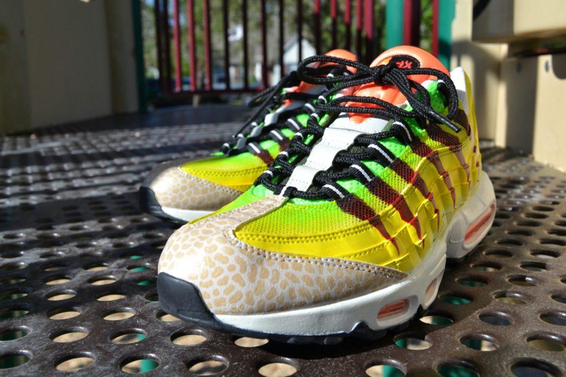 "Nike Air Max 95 ""Velociraptor"" Custom by Bago Customs"