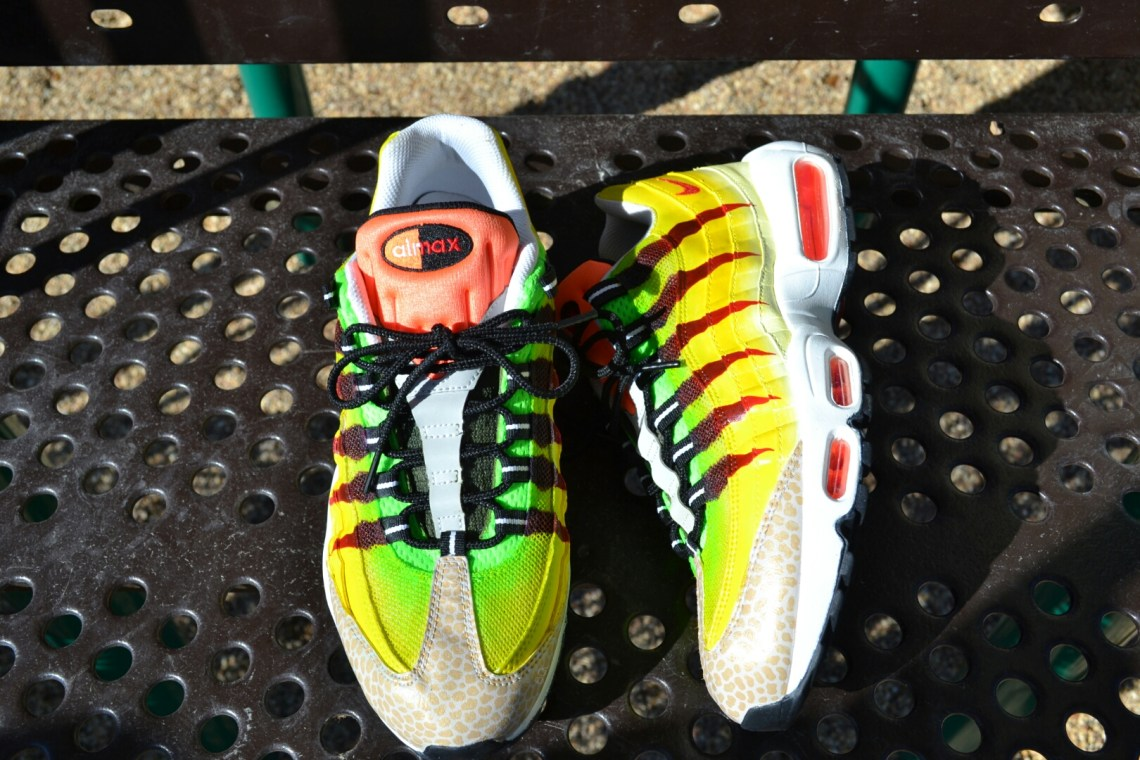 "Nike Air Max 95 ""Velociraptor"" Custom by Bago Customs"