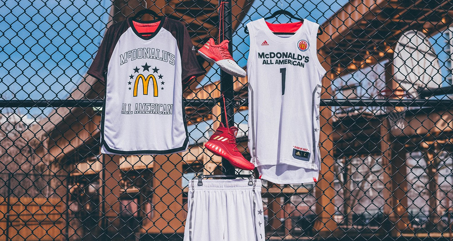 354c84221529 adidas Reveals 2017 McDonald s All-American Game Footwear and Uniforms