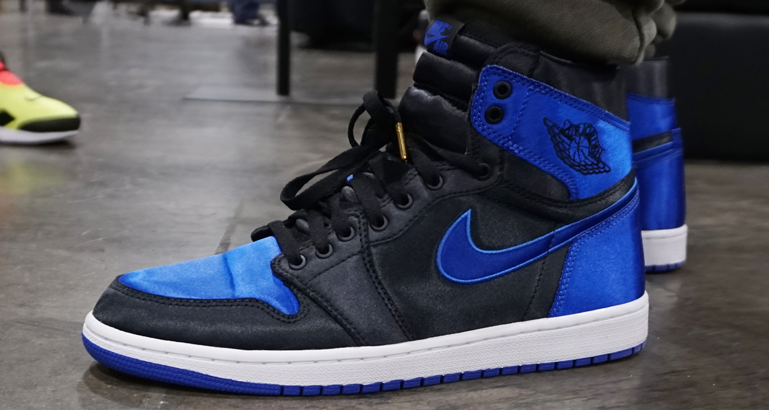 "0e0d7f8126d4b9 Air Jordan 1 ""Satin Royal"" Releases Today at Walter s   Active Athlete"