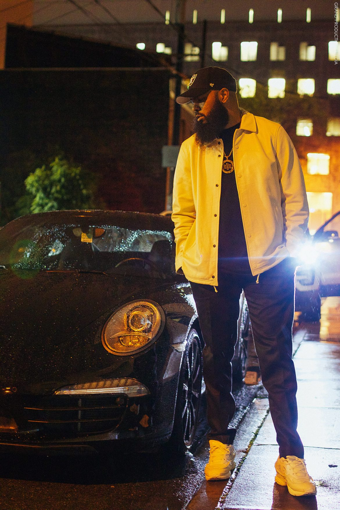 Stalley in the Raf Simons x Adidas Ozweego Bunny Sneakers