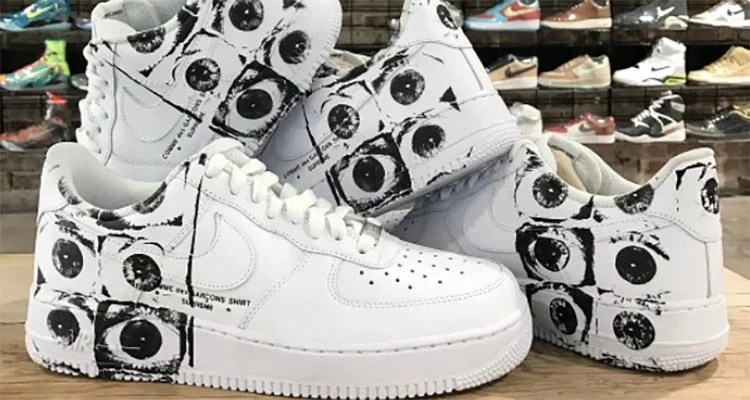 the latest 1888e ddae9 Supreme x COMME des GARĆONS SHIRT x Nike Air Force 1 Low ...