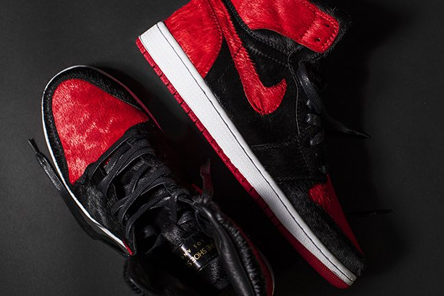 1a0eb32557d ... Air Jordan 1 Banned Pony Hair Custom by The Shoe Surgeon