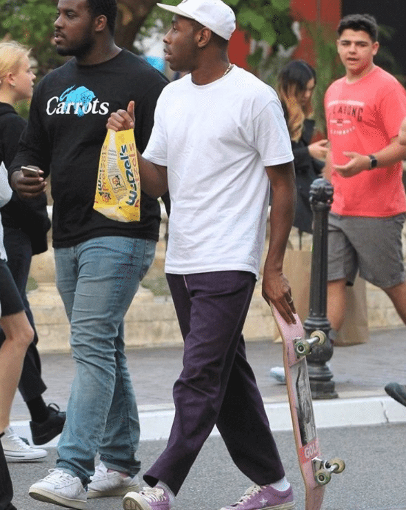 Tyler, the Creator in the Converse One Star