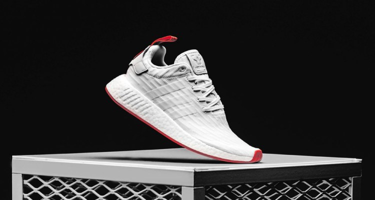 38f3f3e05 adidas NMD R2 Primeknit White Core Red    Available Now