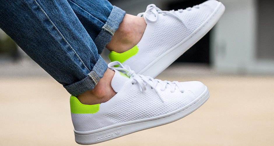 adidas Stan Smith Primeknit Gets Updated with Fluorescent Heel