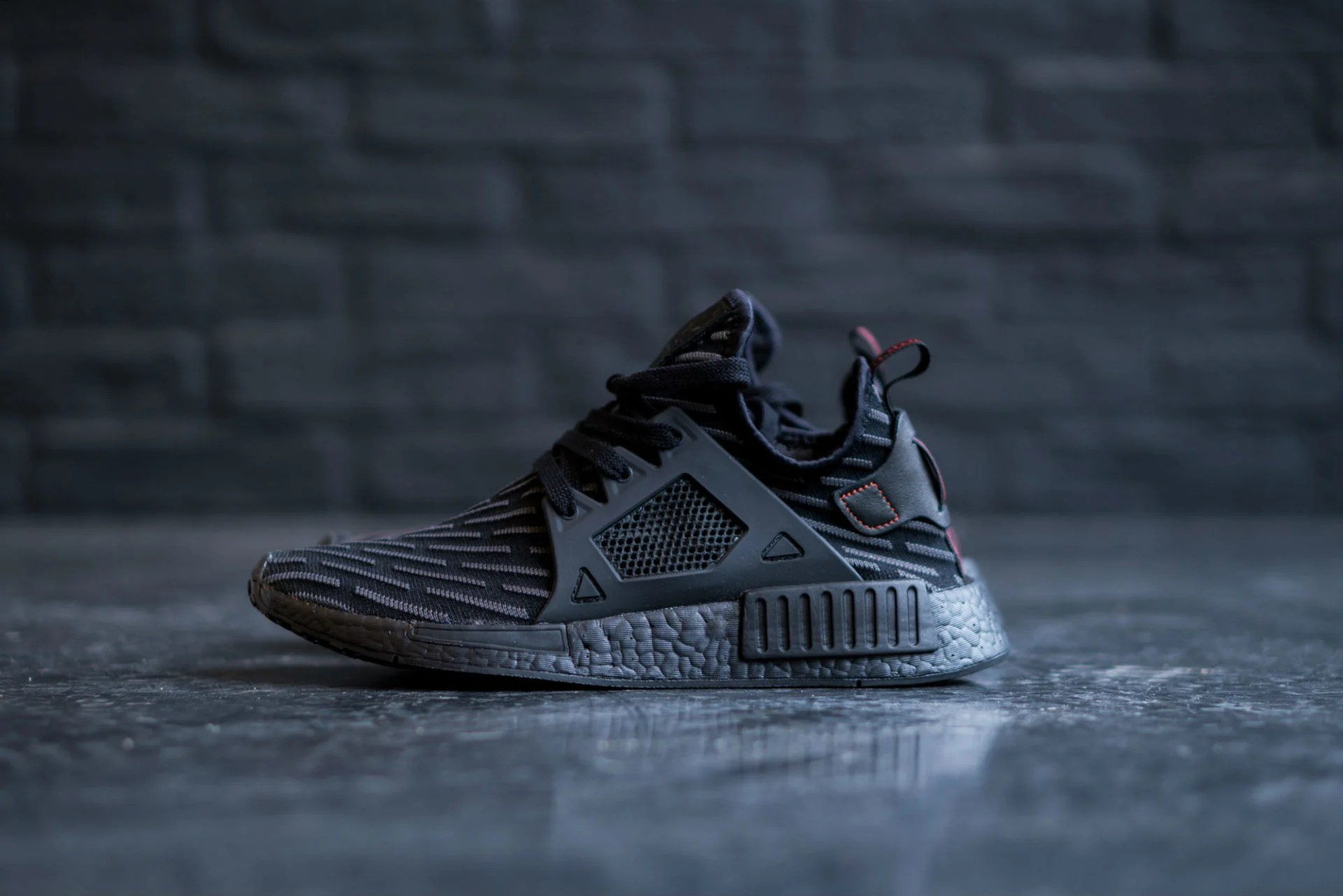 Adidas Nmd Rt Primeknit Nucleo Nero / Nucleo Rosso Gocce D'oltremare Belle Scarpe