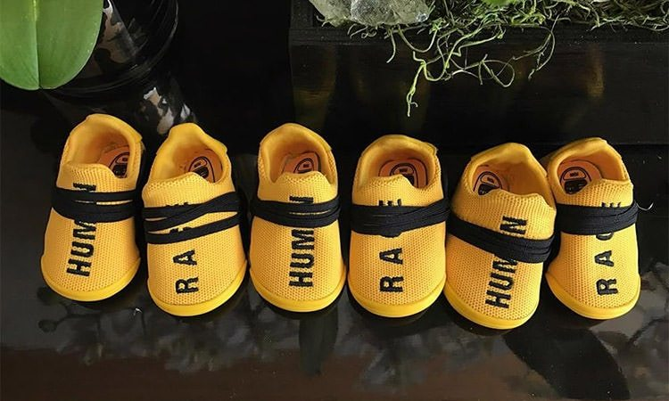 Adidas Surprises Pharrell with Baby Human Race Booties