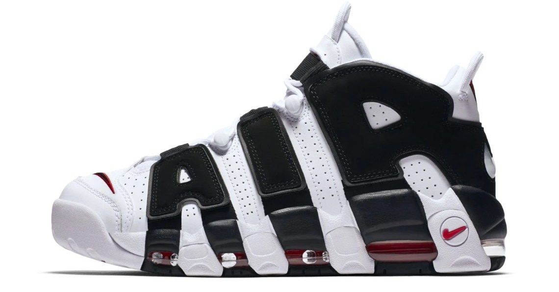 Nike Air More Uptempo White/Black-Red
