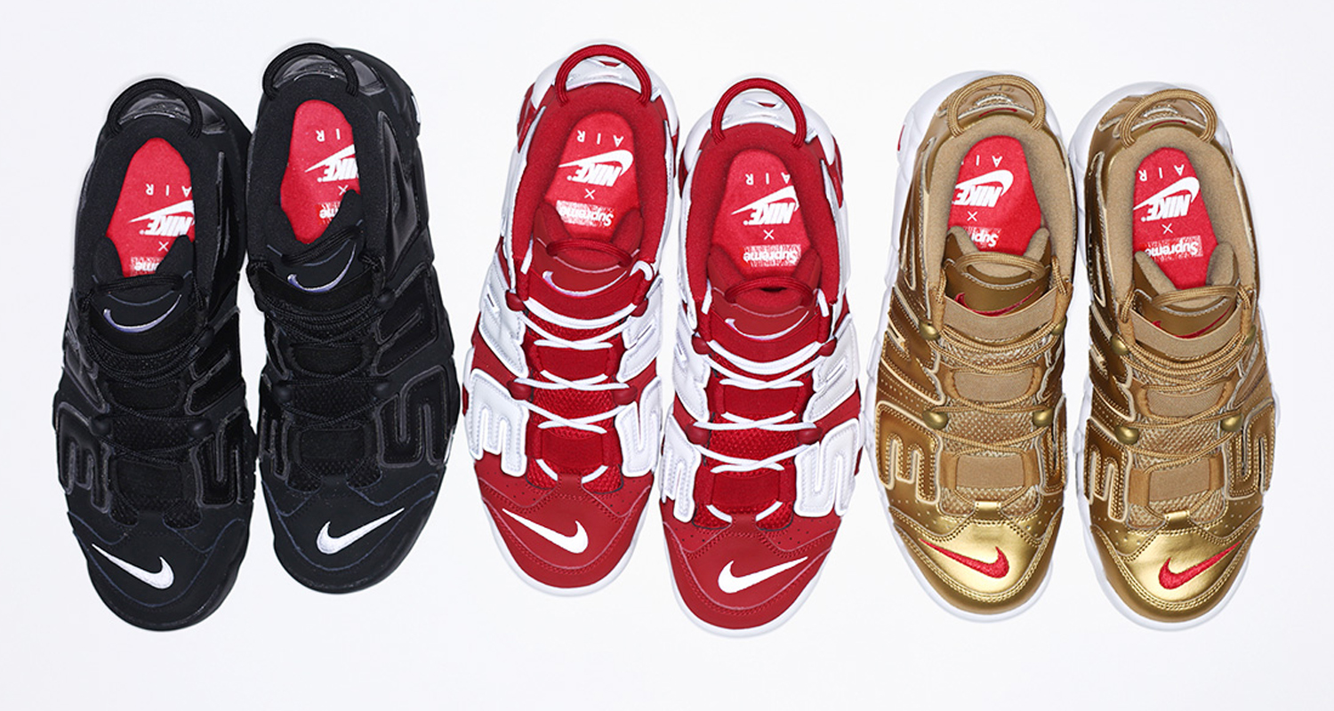 cheap for discount 7c855 005a7 Supreme x Nike Air More Uptempo    Release Date