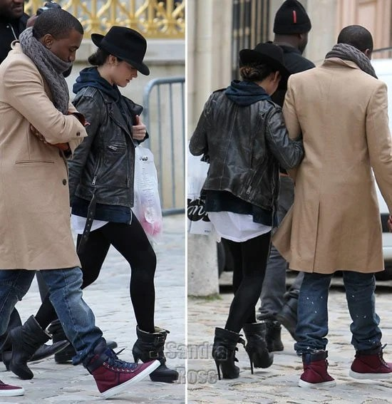 Kanye West in the Raf Simons Sneakers